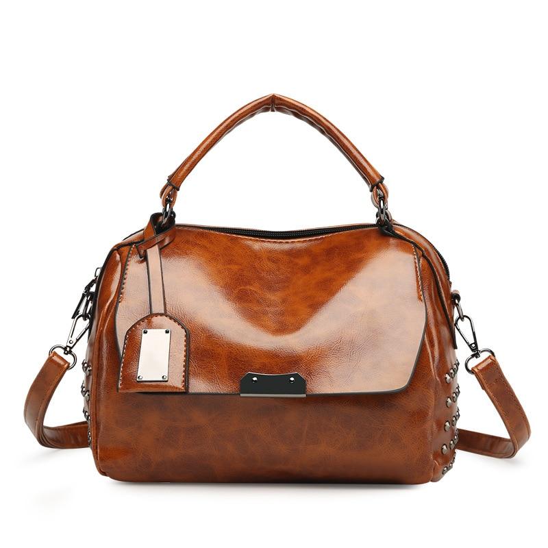 New Classic Leather Handbags Fashion Shoulder And Handbags,Hasp Crossbody Bag Shoulder Bag Womens Single bag