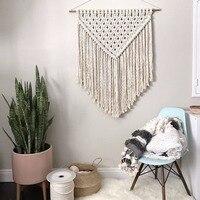 Nordic hand made hook tapestry ,multi function blanket for table runner, bedside blanket ,45*70 cm decoration wall hanging,