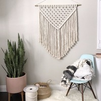 Nordic hand made hook tapestry ,multi function blanket for table runner, bedside blanket ,45*70 cm decoration wall hanging,