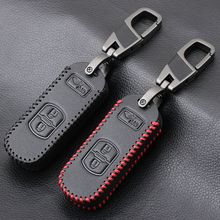 Leather Car Key Case Smart Keyless Remote Fob Protect Cover Keychain Keys Bag For Mazda 3 CX9 CX3 CX5 CX7 Speed Auto Accessories