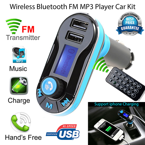 Hot Wireless Bluetooth FM Transmitter MP3 Player Car Kit Charger for iPhone Samsung 3 in 1 universal car kit mp3 player fm transmitter bluetototh car modulator radio dual port car charger for iphone for samsung