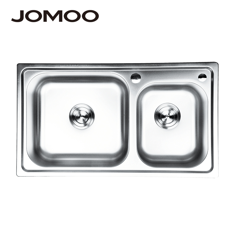 Évier de cuisine JOMOO double bol en acier inoxydable au-dessus du comptoir ou éviers udermount lavabo à légumes éviers épais évier de cuisine - 3