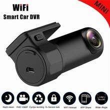 Мини WI-FI Видеорегистраторы для автомобилей HD1080P Камера цифровой регистратор видео Регистраторы dashcam Road видеокамера приложение Мониторы Ночное видение Беспроводной DVR