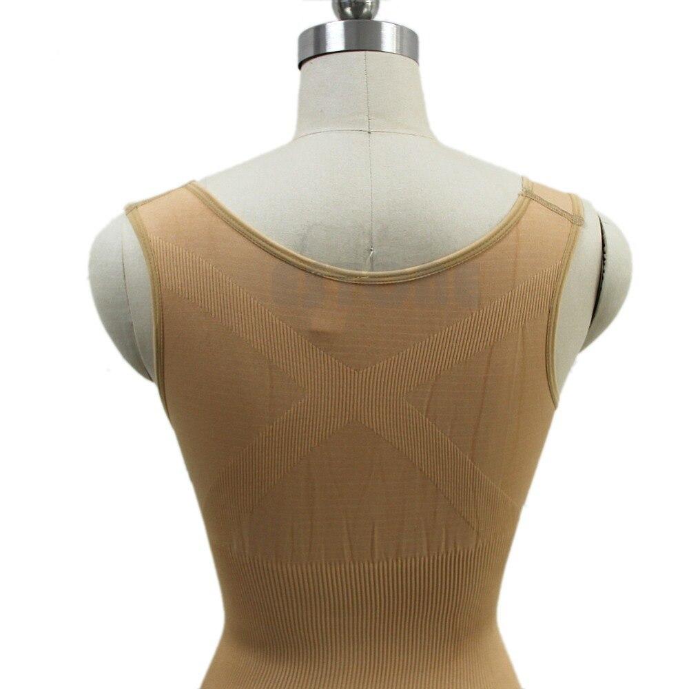 Женская мода Для Похудения Бамбук Грудью Shaper Корсет Тела Боди Корректирующее Белье