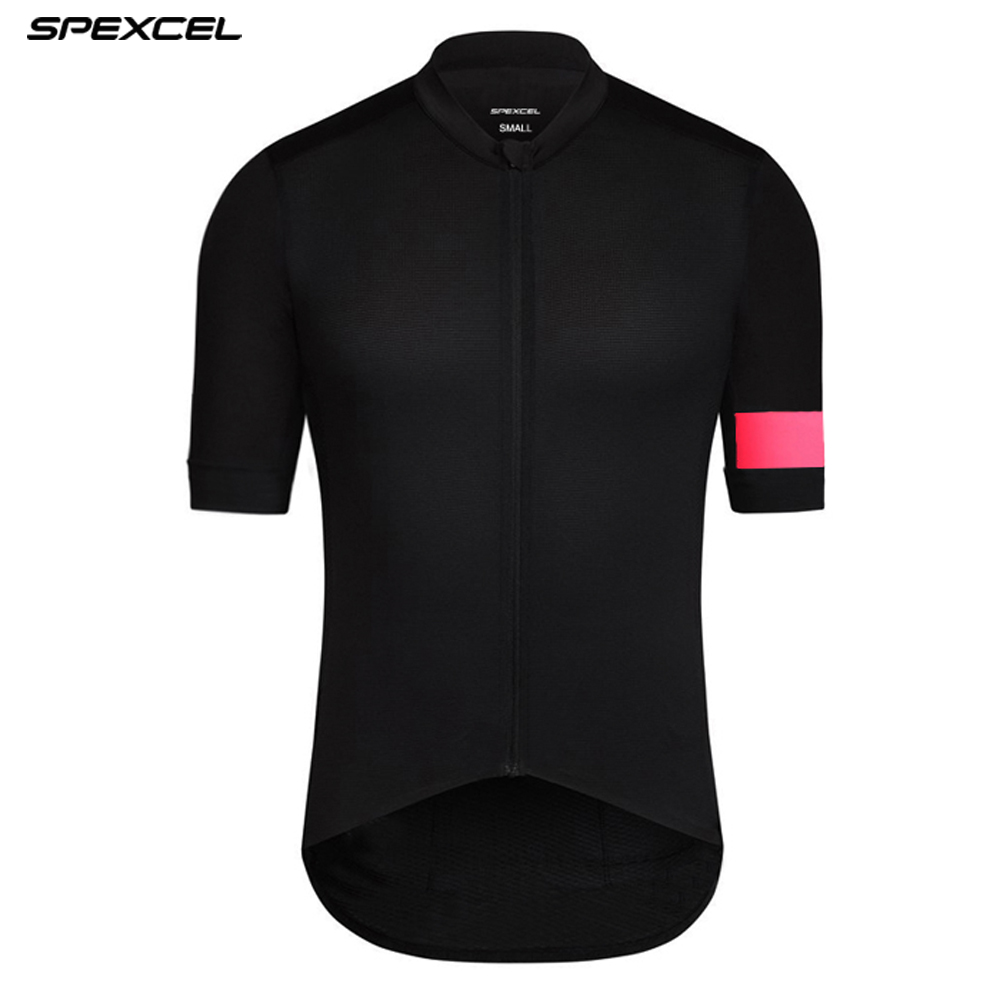 SPEXCEL top quality New Black Pink climber Hot Summer Short Sleeve Cycling Jersey for man woman profession race cycling gear