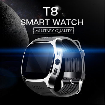 T8 Bluetooth Smart Watch With Camera Music Player Facebook Whatsapp Sync SMS Smartwatch Support SIM TF Card For Android ETC 9