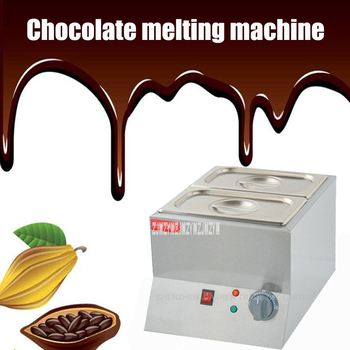1PC Double Electric Chocolate Fountain Fondue Chocolate Melt Pot melter Machine chocolate melting machine 220V 250w