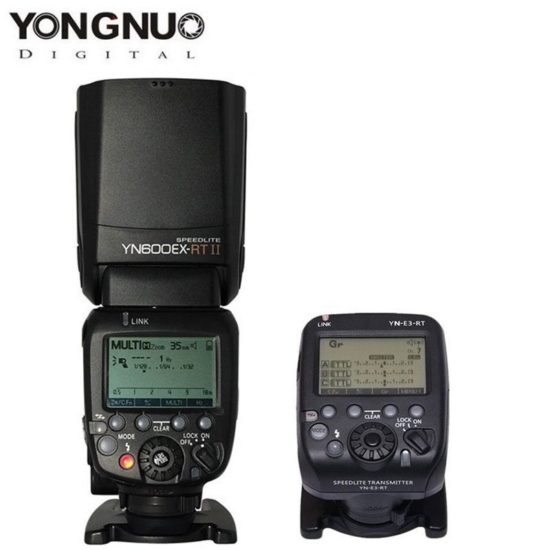 2017New Flash YONGNUO YN600EX-RT II Flash Speedlite +YN-E3-RT Controller for Canon 5D3 5D2 7D 6D 70D 60D 650D Camera 2017 new meike mk 930 ii flash speedlight speedlite for canon 6d eos 5d 5d2 5d mark iii ii as yongnuo yn 560 yn560 ii yn560ii