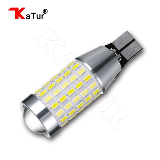 US $293 11 19% OFF|100pcs Auto Led Reverse Lamp Bulb T15 T16 W16W 3014 87  EX CANBUS No OBC Error W16W Car LED Back up Light 12V 24V Xenon White-in