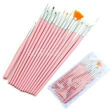 Nail Art Acryl UV Gel Diy Design Brush Set Schilderen Pen Tips Gereedschap kit 15 Pcs(China)