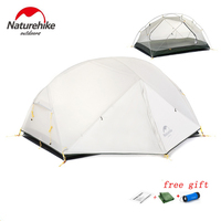 DHL Free Shipping Naturehike Mongar 2 Camping Tent Double Layers Waterproof Ultralight Dome Tent For 2
