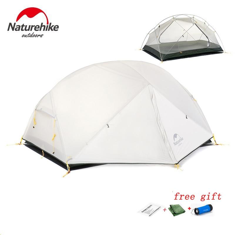 DHL LIBERA il trasporto Naturehike Mongar 2 Tenda Da Campeggio Doppi Strati Impermeabile Ultralight Tenda a Cupola per 2 Persona
