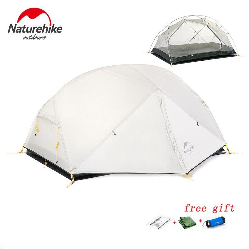 DHL envío gratis Naturehike Mongar 2 tienda de campaña de doble capa impermeable ultraligera tienda Domo para 2 personas