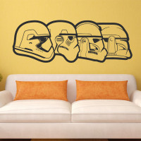 Art Design Stormtrooper Evolution Wall Sticker Home Decoration Vinyl Wall Decals Removable For Kids Room Or