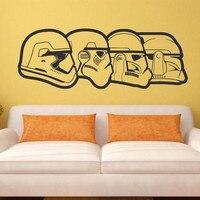 아트 디자인 사이보그 진화 벽 스티커 홈 장식 비닐 스타 워즈 벽 데칼 아이 방 또는 거실