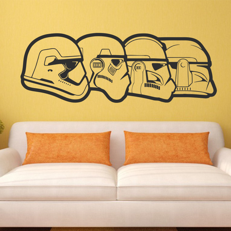 ヾ(^▽^)ノArt Design Stormtrooper evolution wall sticker home ...