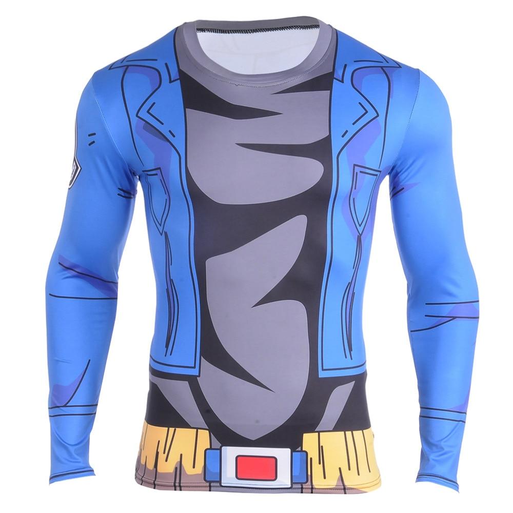 2016 Dragon Ball Z T Shirt for Men Dragon Ball Vegeta Goku Super Saiyan Long Sleeve New Fitness Hot 3D T-Shirt Cosplay Costume