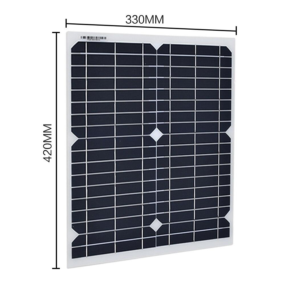 20 W 18 V monocristallin silicium panneau solaire 1000 W onduleur 12 V/24 V à 220 V/110 V + PWM 10A Charge contrôleur batterie chargeur Kit - 2