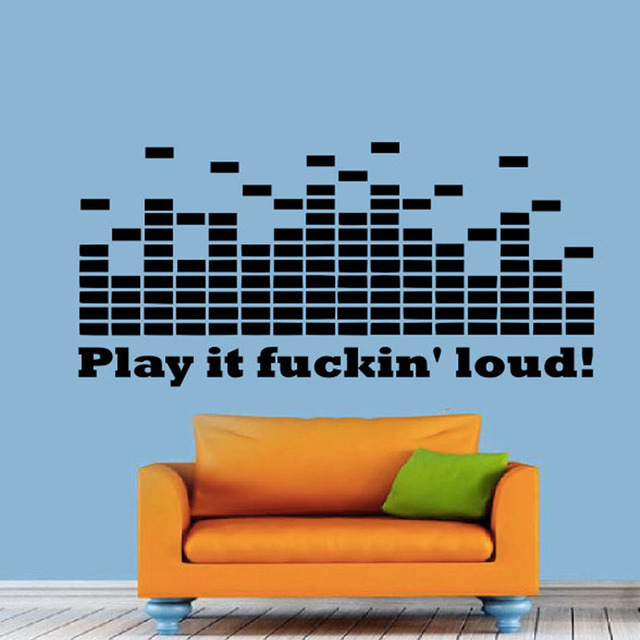 Modern Design DJ Equalizer Wall Stickers Living Room Removable