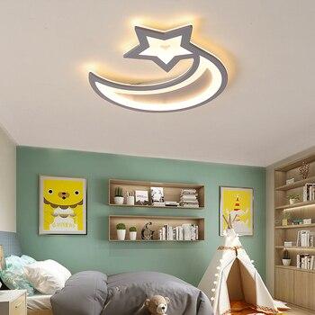 Lumières de plafond moderne à LEDs de lune et d'étoile de couleur grise montées par Surface pour la chambre d'enfants