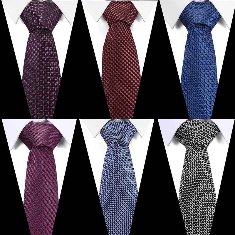 "Wholesale 5 PCS Men Tie 5 cm Woven Silk Skinny Wedding Necktie 2/"" Wide Necktie"