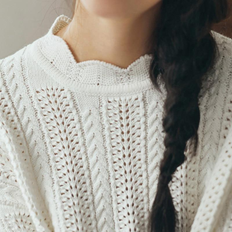 Inman Frauen Herbst Neue Feste Farbe Gerade Zylinder Lange Sleeves Gestrickte Pullover Frauen Kleidung & Zubehör Pullover