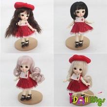 High Quality 1/8 Dolls Hair Black Khaki Wigs Doll Accessories Free Shipping