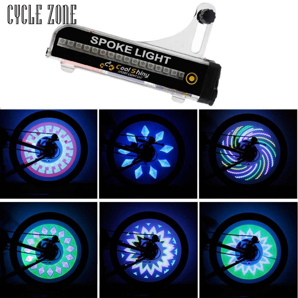 2017 32 LED Motorcycle Cycling Bicycle Bike Wheel Signal Tire Spoke Light 21 Changes Mar13