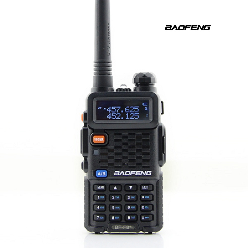 Baofeng F8 + Plus 2 Gen Ham Two Way Radio Daul Bandes 5 W Talkie Walkie avec Écran LCD Portable Interphone et à Gain Élevé antenne