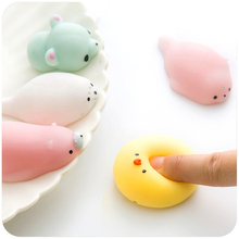 10pcs Antistress Squeeze Balls Cute Squishy Animals Emotion Vent Ball Resin Random Delivery Stress Reliever font
