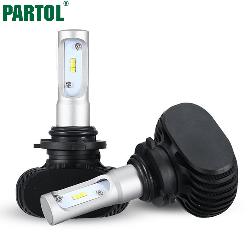 S1 Partol 50W 8000LM 9006/HB4 CSP LED Car Headlight Bulbs CREE Chips Auto Headlamp 6500K for Ford Toyota Honda Hyundai VW 12V ironwalls h11 led car headlight bulbs cree csp chips 72w 8000lm 6500k auto front fog light headlamp 12v 24v for ford toyota