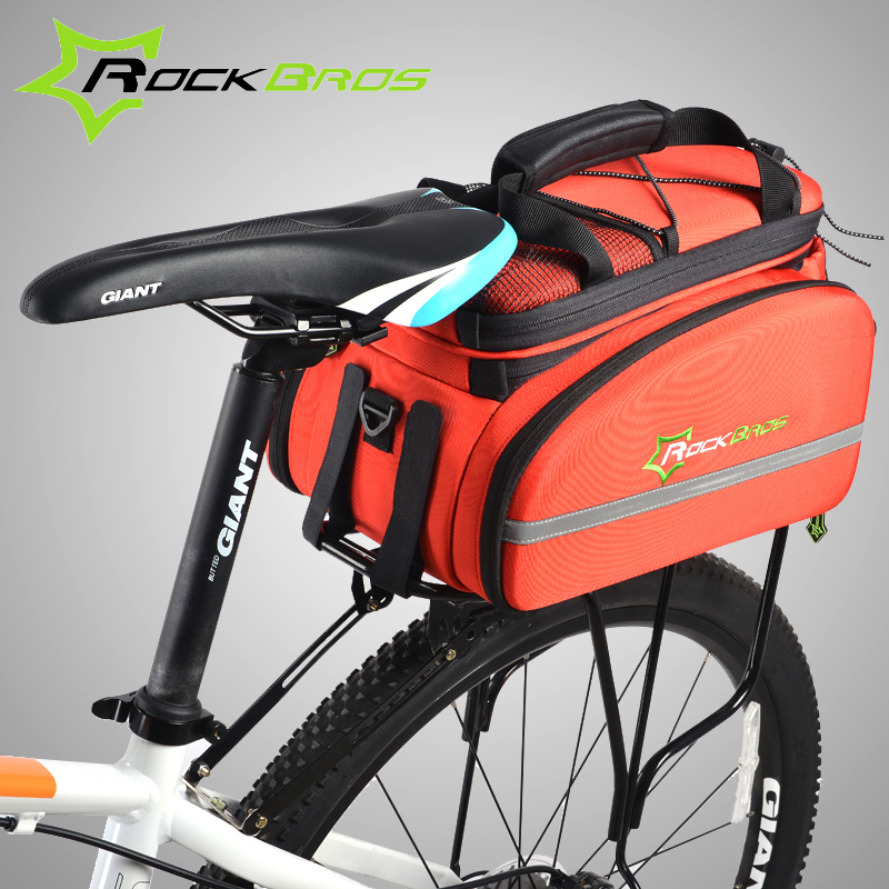 Rockbros Bike Bicycle Bag 1.2L Large Capacity Cycling Luggage Bag Mountain Road Bicycle Accessories Cycling Panniers Bolsa Bike high quality big capacity cycling bicycle bag bike rear seat trunk bag bike panniers bicycle seat bag accessories bags cycling