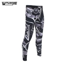 WTUVIVE MMA Black Samurai Armor Breathable Fitness Fighter Fighting Wear Pants Tiger Muay Thai boxing mma shorts kickboxing mma