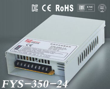 Factory outlet 350W 24V 14.5A LED Rain-Proof switch power supply ac dc power transformer low price high quality (FYS-350-24)