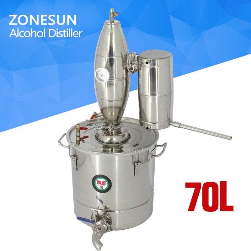 2018 New! Household Stainless Steel Home Wine Brewing Device 70L Alcohol Distiller/Wine Maker English Manual+11 Gifts виброплита бензиновая tsunami со 70l