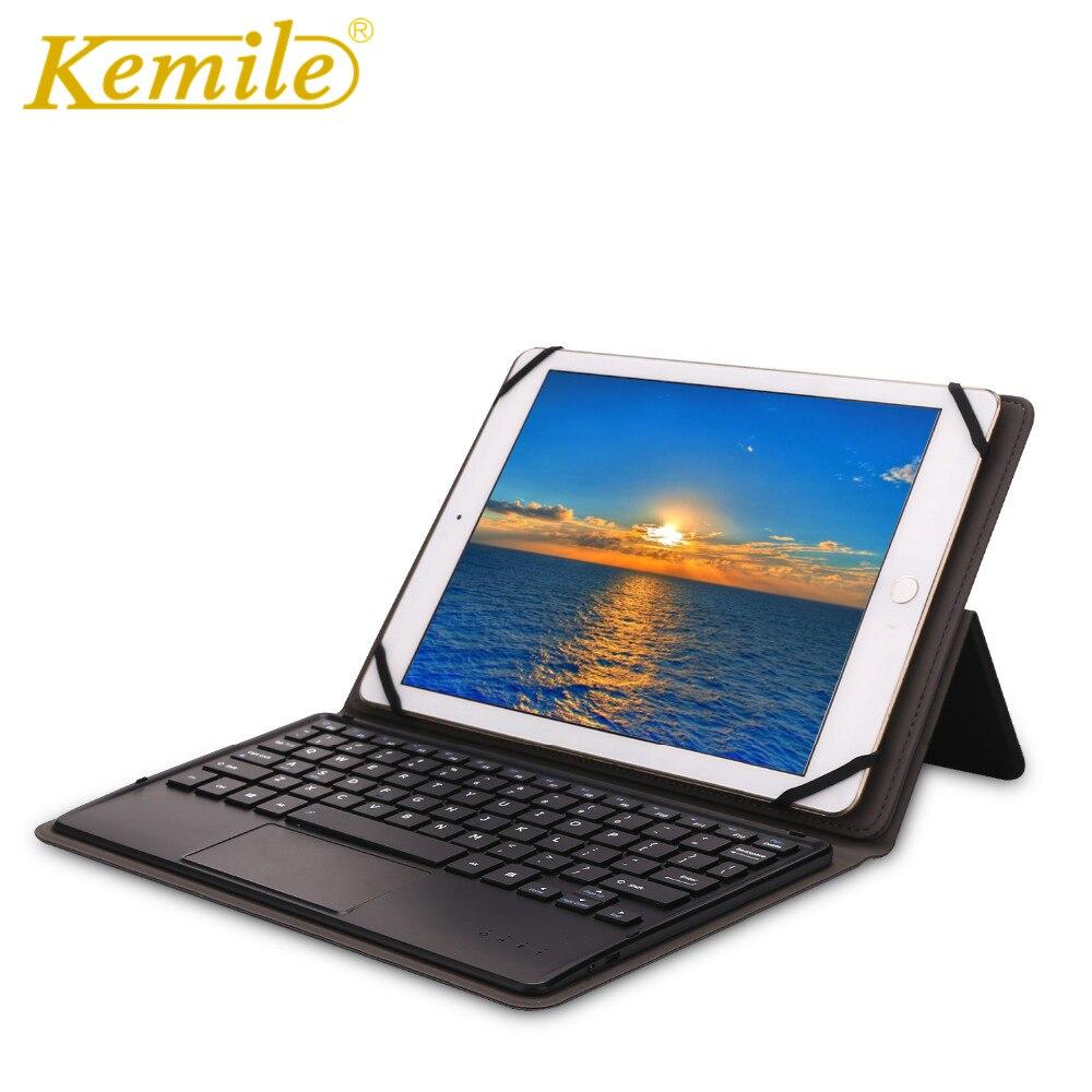 Kemile Universa sans fil Bluetooth 3.0 touchpad clavier couverture pour Samsung Galaxy Tab A 10.1 2016 T585 T580 SM-T580 T580N étui