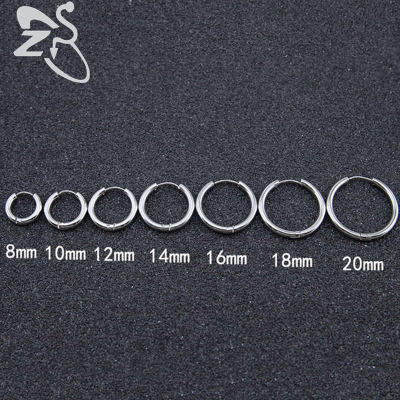 1 Paar Hoop Ohrringe Einfache Sommer Stil Kreis Hoop Ohrringe Frauen Mann Runde Beliebte Ohrring Schmuck 8mm-20mm Bijoux Schmuck Ein