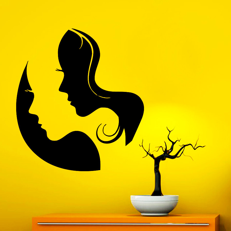Beautiful Woman Face Silhouette Art Special Wallpaper Home ...