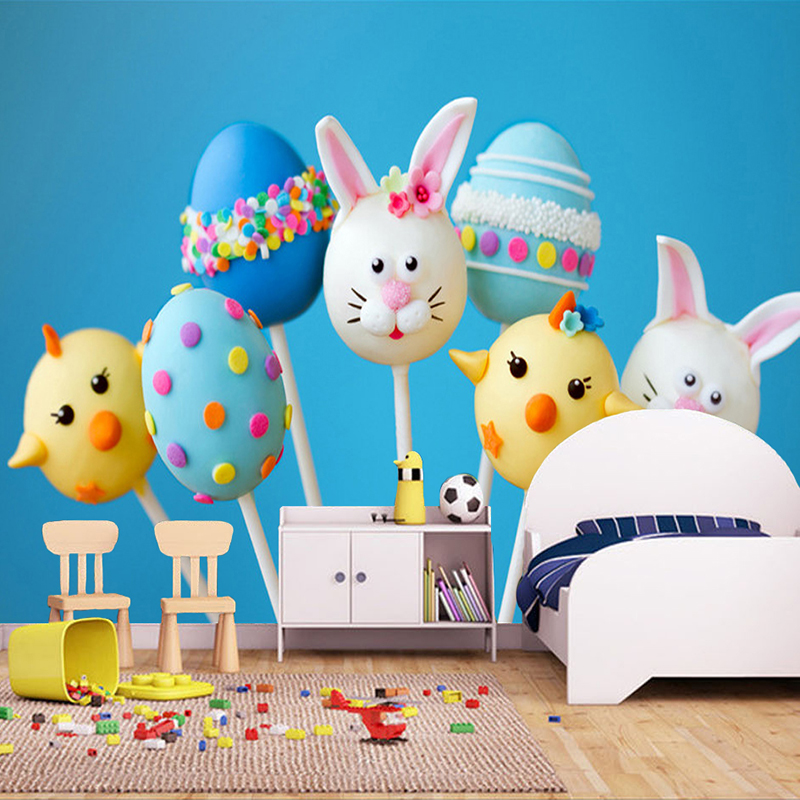 Custom Photo Wallpaper Cute 3D Cartoon Animals Colored Candy Kids Room Bedroom Backdrop Wall Decoration Mural Sticker Wallpaper custom baby wallpaper snow white and the seven dwarfs bedroom for the children s room mural backdrop stereoscopic 3d
