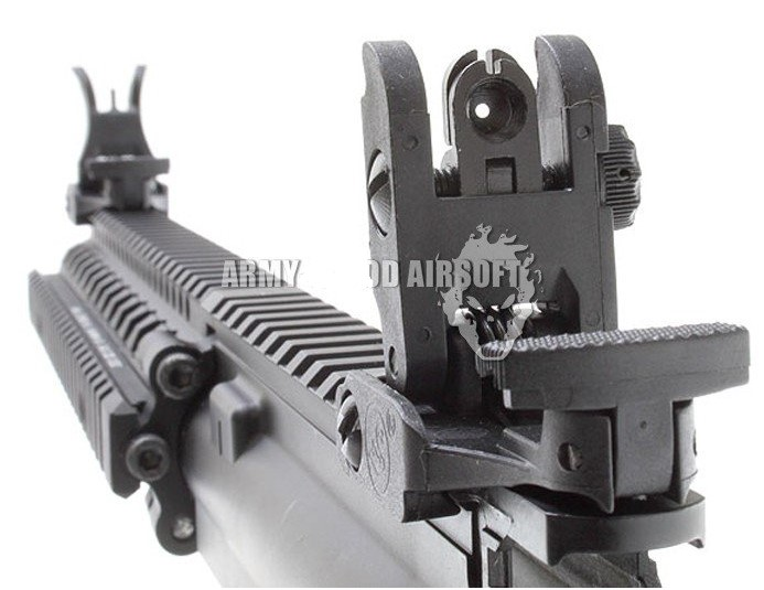 tactical arms polymer 71l front rear sight button latches flip up