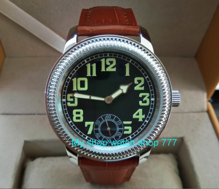 44mm PARNIS Asian ST3621/6498 Mechanical Hand Wind movement Mechanical watches Luminous black dial men's watches YB05 аккумулятор yoobao yb 6014 10400mah green