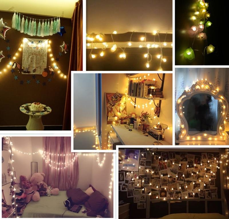 Ball światła na zewnątrz 10M 100 LEDS Fairy Christmas Lights 220V - Oświetlenie wakacje - Zdjęcie 6