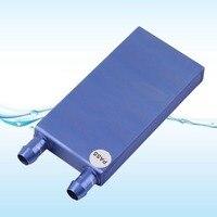 40*80*12mm Aluminium Water Cooling Waterblock Heatsink Block Liquid Cooler For CPU GPU Laser Head Industrial Control Cabinet