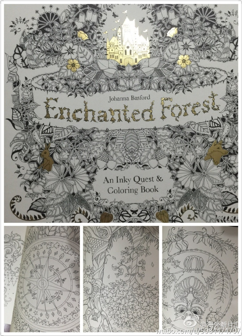2015 English Enchanted Forest Inky Treasure Hunt Coloring Book Children Adult Relieve Stress
