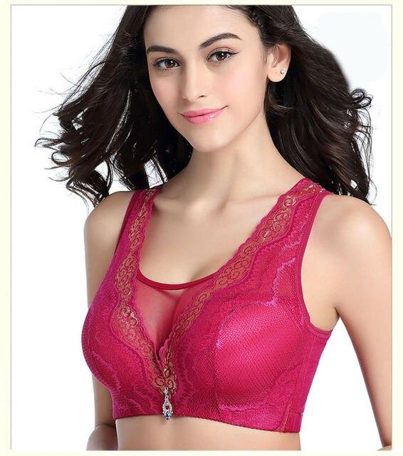 263d6a09b9100 Women Elegant comfortable push up bra for women full C D E cup plus size 34  36 38