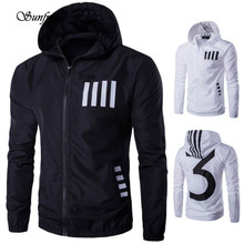 Sunfree 2016 New Hot Sale Men's Autumn Winter Hooded Printing Casual Short Jacket Top Brand New High Quality Dec 1