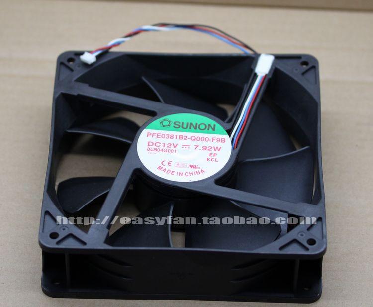 Original SUNON PFE0381B2-Q000 - F9B DC12V 7.92W 120 *120 * 38mm Four-wire projector fan sunon free shipping new original taiwan blower fan dp200a p n2123hsl 1238 12cm 12038 120 120 38mm 220v wire type