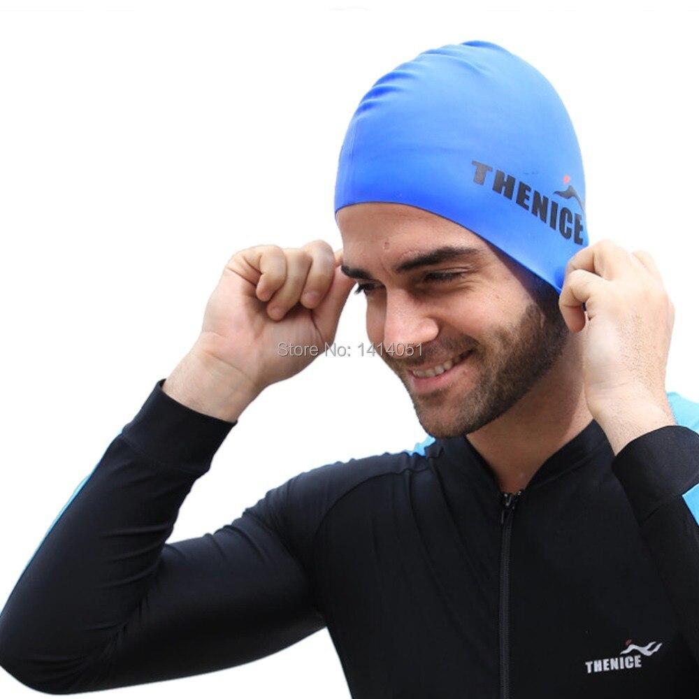 Thenice Pria Scuba Snorkling Helm Silikon Murni Topi Renang Cap Kepala Untuk 5 Olahraga Air Warna Biru Di Berenang Dari Hiburan Aliexpresscom Alibaba