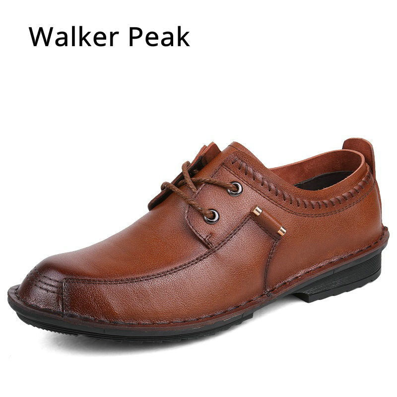 Walker Peak Men Formal Shoes Pointed toe Genuine leather dress shoes 2018 luxury male working footwear fashion oxford shoes