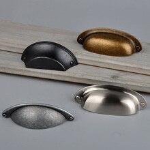 Retro Metal Kitchen Drawer Cabinet Door Handle And Furniture Knobs Handware Cupboard Antique Brass Shell Pull Handles недорого